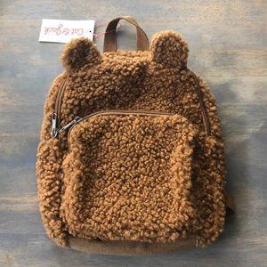 Cat & Jack brown bear mini backpack, NWT